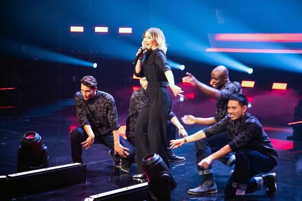 """Jeannine Michaelsen performt zu Beginn jeder Show ein Medley der Hits. Zu sehen bei """"My Hit. Your Song."""" – ab 17. Januar 2019, um 20:15 Uhr auf ProSieben."""