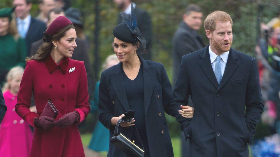 Herzogin Catherine gemeinsam mit Herzogin Meghan und Prinz Harry