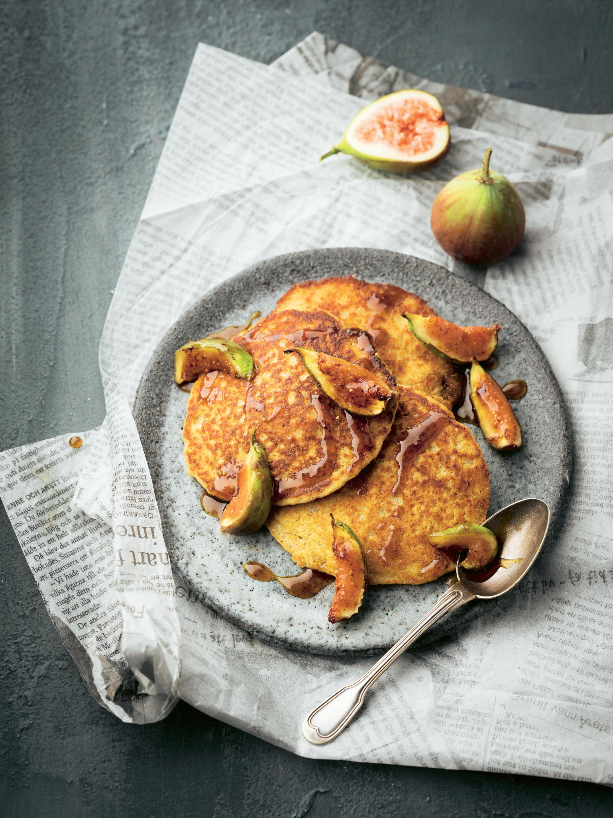 Orangen-Feigen-Pancakes
