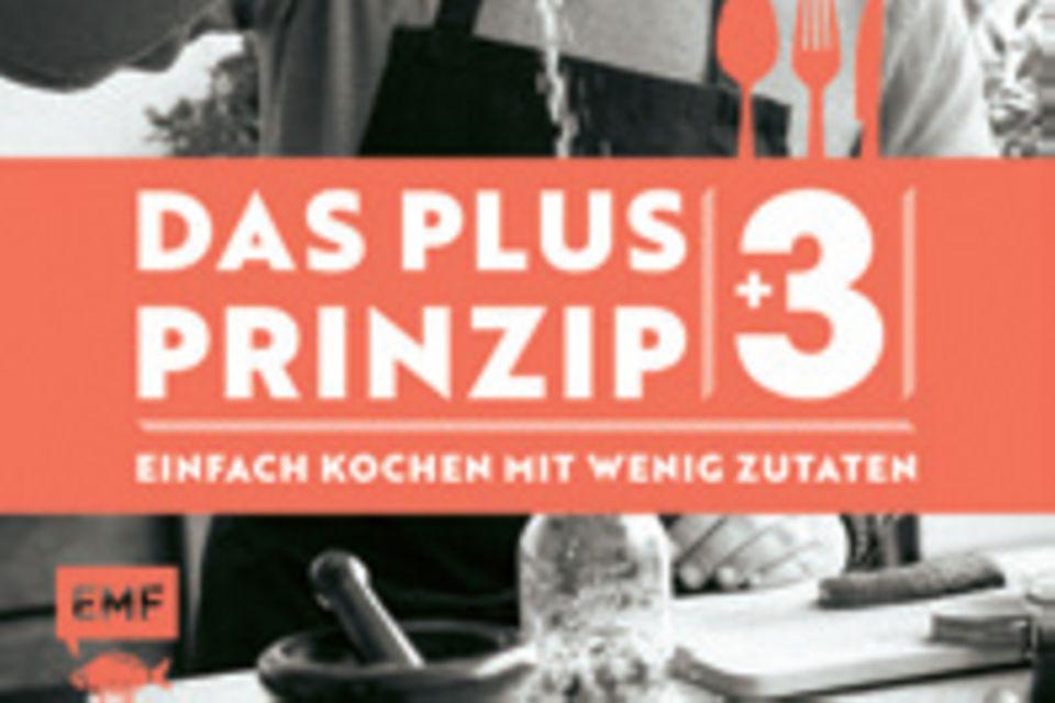 """TV-Koch Mario Kotaskas 90 kreative Rezepte für Frühstück, Klassiker, Exotisches und Fit-Food gelingen mit Vorrats-Basics und nur drei weiteren frischen Zutaten pro Gericht. (""""Das Plus-3-Prinzip"""", EMF Verlag, 240 S., 25 Euro)"""