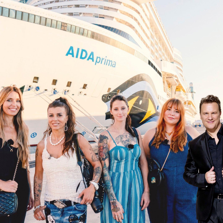 Shopping Queen auf der AIDA (Vox): Shopping Queen auf der AIDA! Diese Kandidatinnen müssen Guido Maria  Kretschmer ihr Styl-Talent beweisen (V.l.): Sandra R., Gordana, Alisa, Sandra K.