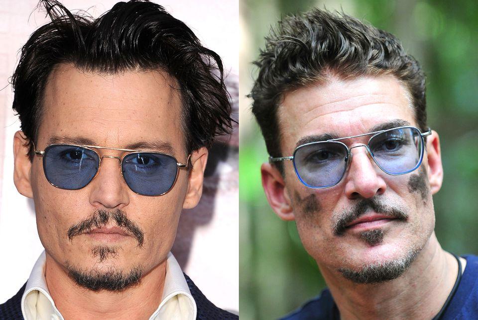 Wir meinen natürlich Schauspieler Johnny Depp. Ziegenbärtchen und eine blau getönte Brille sind schon immer sein Markenzeichen. Ob Töpperwien den Look absichtlich abgekupfert hat, bleibt offen.