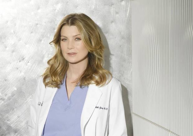 """Ellen Pompeo in der vierten Staffel """"Grey's Anatomy"""" (2007 oder 2008)"""
