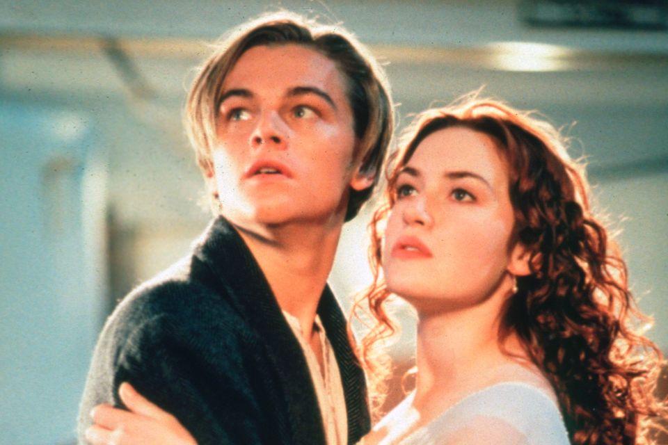 "LeonardoDiCaprio und Kate Winslet in ""Titanic"""