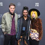 Schauspieler Rainer Meifert, Fashion-Designer Amesh Wijesekera und Julia Runova