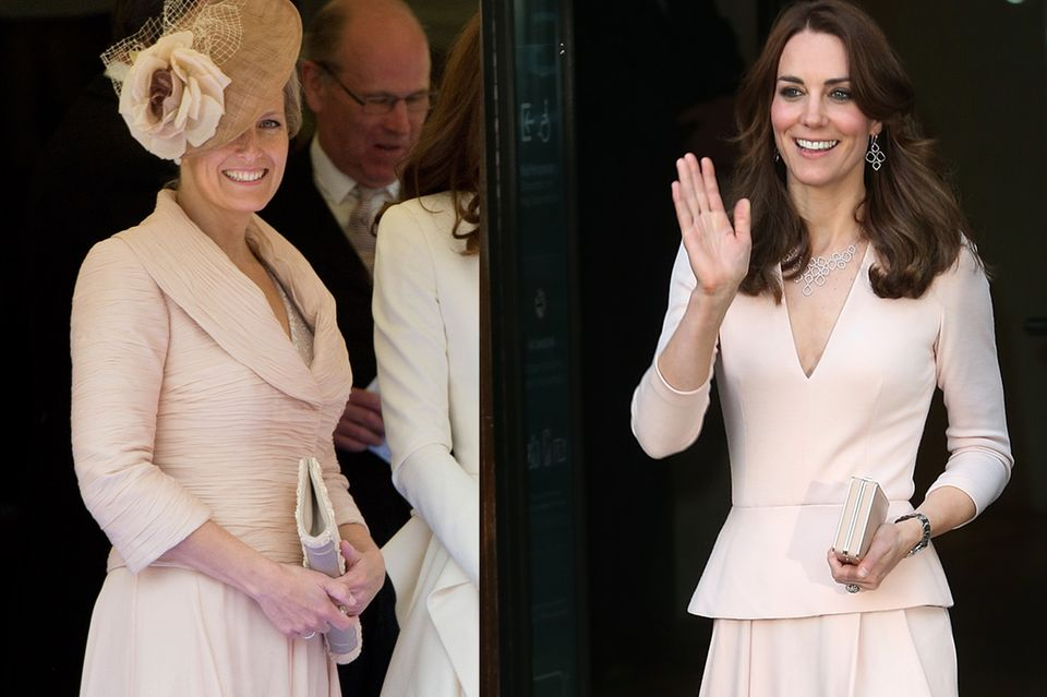Auch helles Rosa in Kombination mit einem verspielten Rocksteht den royalen Damen ausgezeichnet.