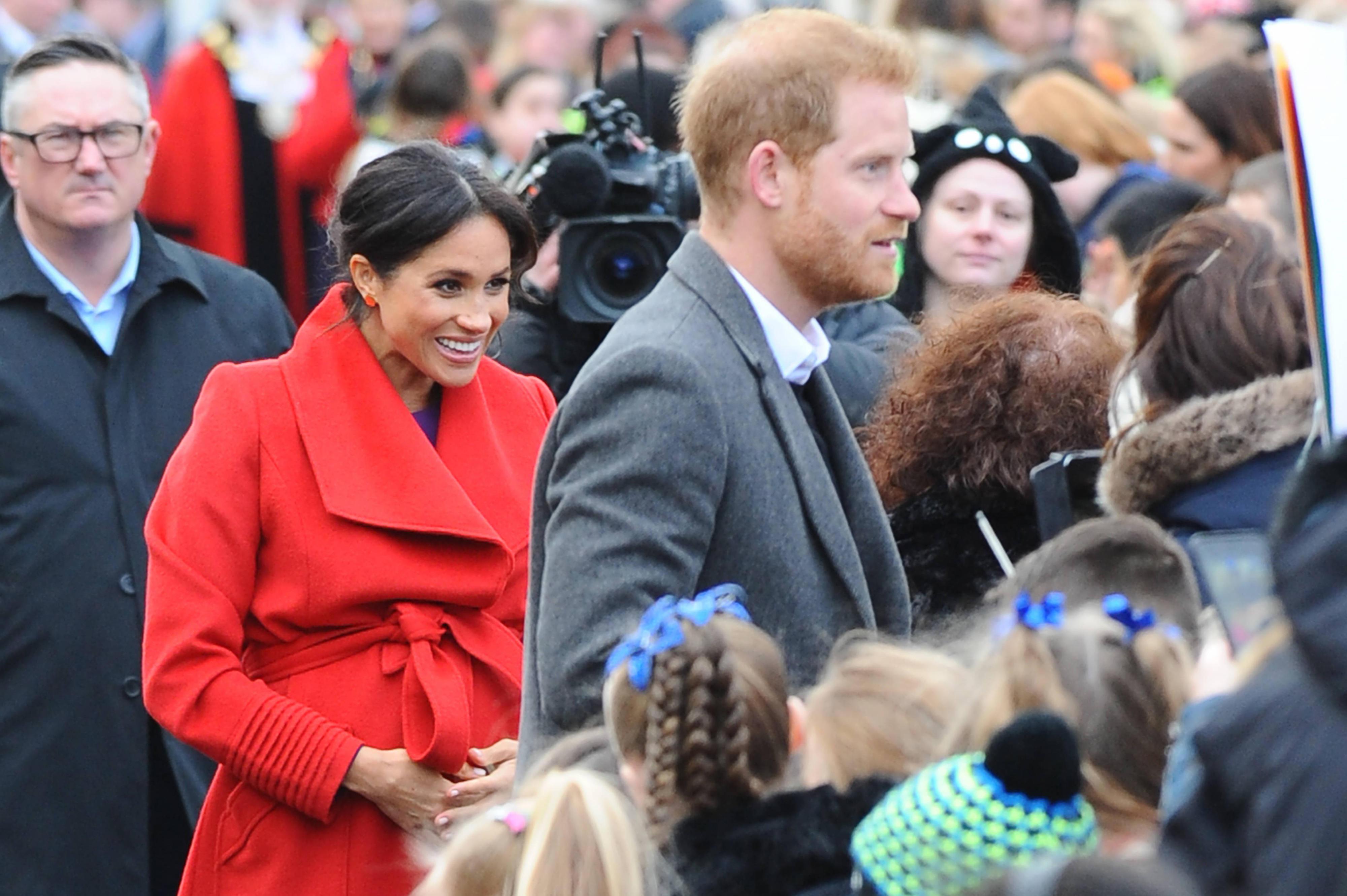 Prinz Harry und Herzogin Meghan bei einem Termin im britischen Birkenhead am 14. Januar 2019