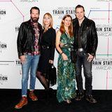 """Die """"Boss Hoss""""-Stars Alec Voelkel und Sascha Vollmer haben ihre HerzensdamenJohanna und Jenniferzur Marc-Cain-Show mitgenommen."""