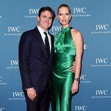 In smaragdfarbener Seide glänzt Topmodel Karolina Kurkova auf dem roten Teppich der IWC Schaffhausen Gala im schweizerischen Genf ganz besonders schön. Das freut natürlich auch ihren MannArchie Drury.