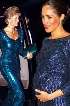 Royale Paillettenpracht: Herzogin Meghan kopiert schon wieder einen Look von Prinzessin Diana (†)