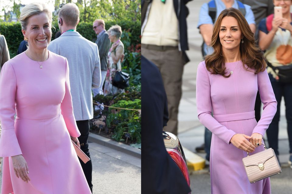 Auch in hellem Lila sehen die royalen Damen hervorragend aus.