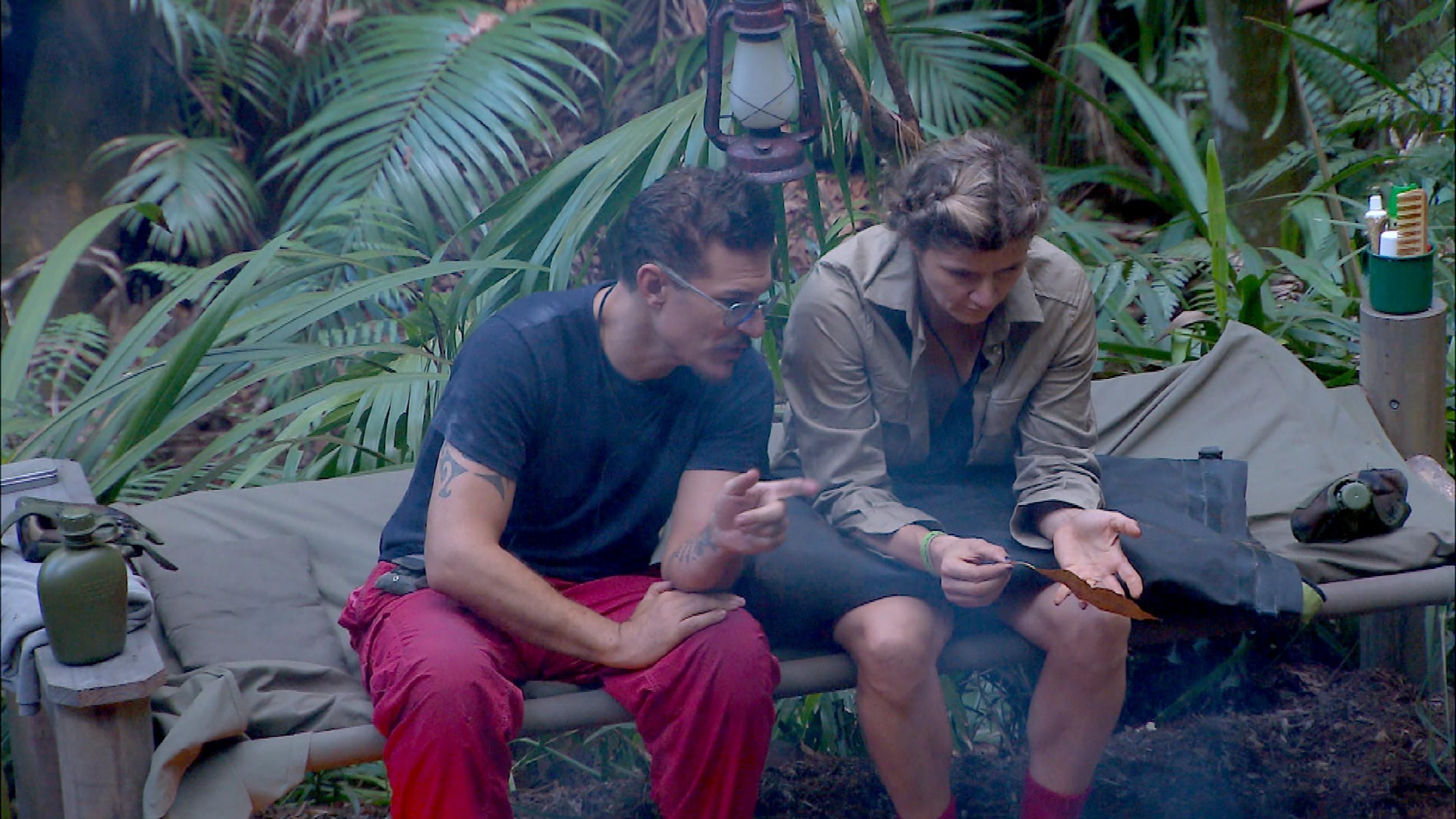Chris Töpperwien und Sandra Kiriasis im Dschungelcamp