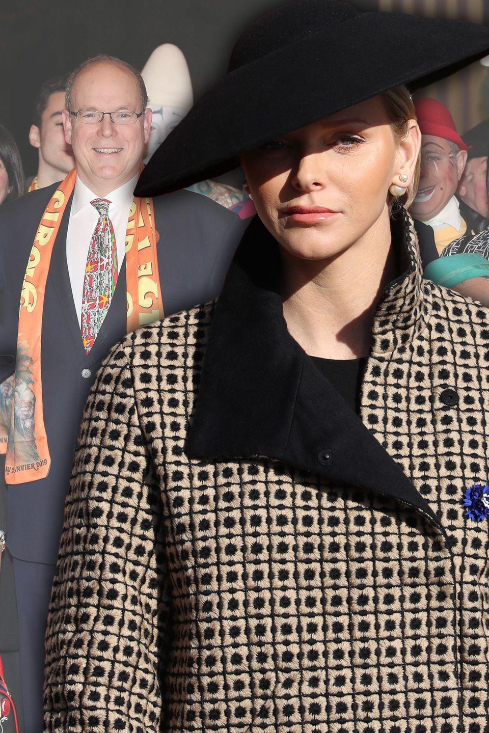 Stéphanie von Monaco, Fürst Albert, Fürstin Charlène