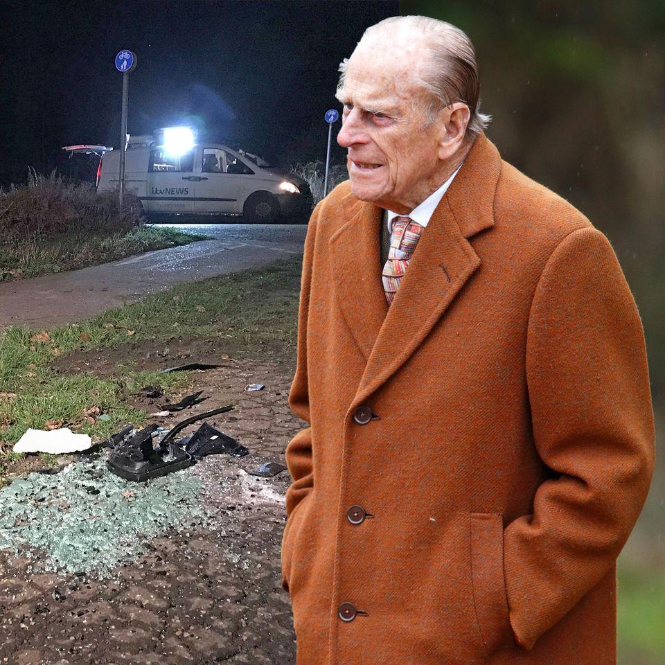Prinz Philip hatte einen Autounfall