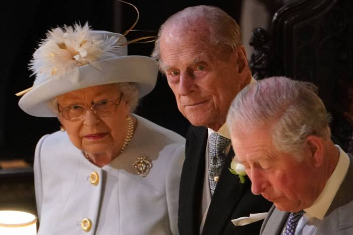 Queen Elizabeth, Prinz Philip, Prinz Charles