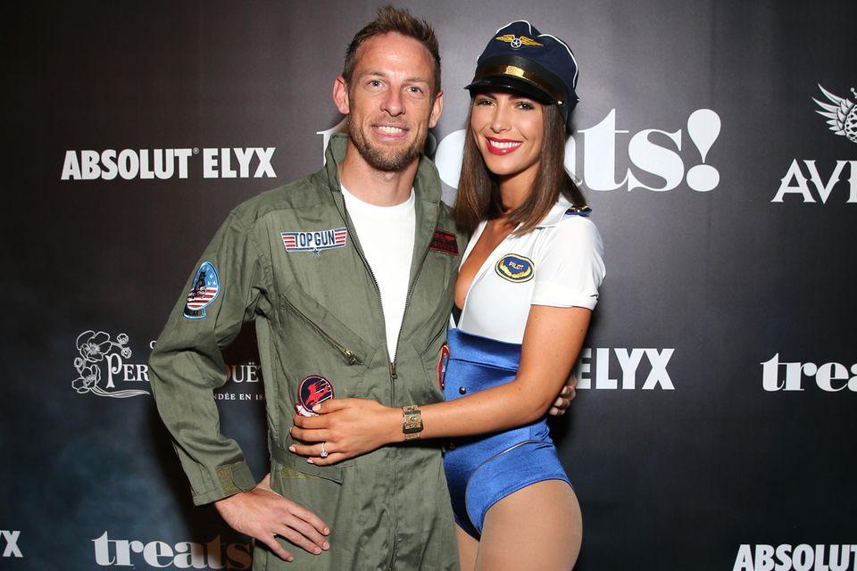 Jenson Button und VerlobteBrittny Ward.