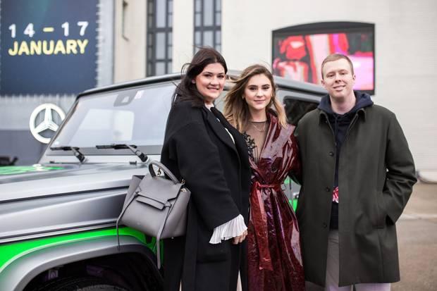 Topmodel Stefanie Giesinger mit Lisa Marie und Steffen von GALA
