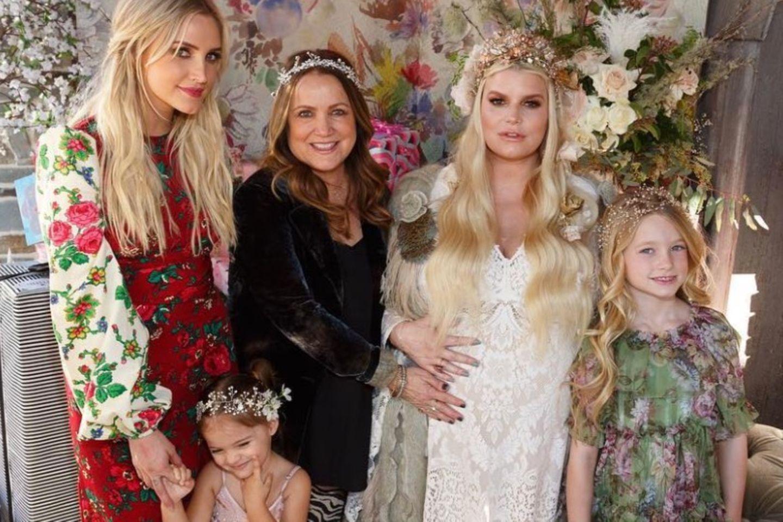 Jessica Simpson mit ihrer Familie