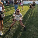 Ausgelassene Stunden erlebt Maria-Olympia nicht nur auf Partys. Sie geht auch gern auf Festivals - wie hier das Coachella.
