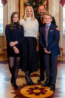 Weihnachtliche Grüße aus Oslo - inklusive einer stylischen Ingrid Alexandra.