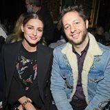 Fashion-Freunde in der Front Row:Olivia Palermo und Derek Blasberg in Paris