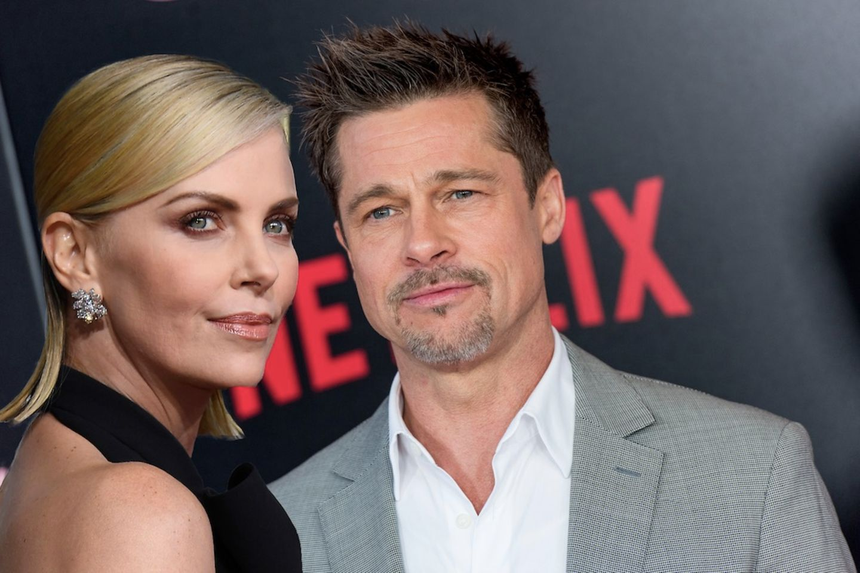 Charlize Theron und Brad Pitt.