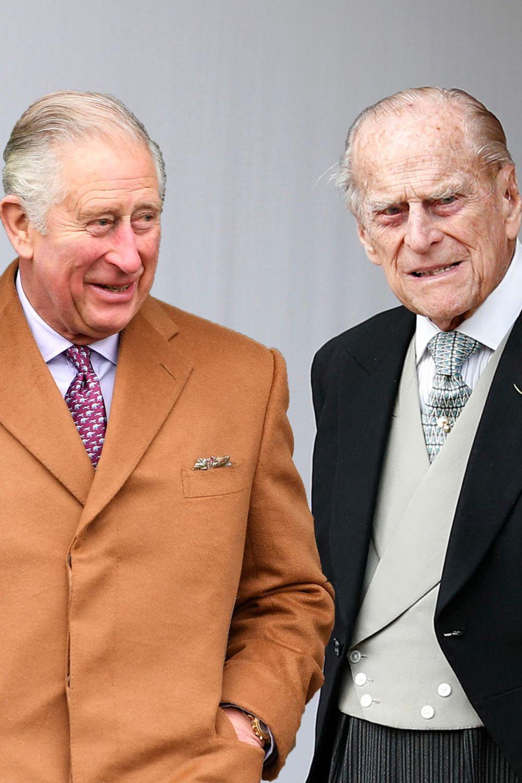Prinz Charles und Prinz Philip.
