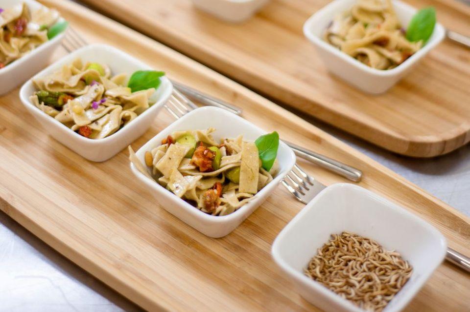 Wie im Dschungelcamp: Pasta aus Insekten
