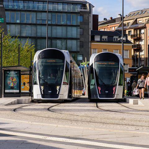 Die Tram in Luxemburg