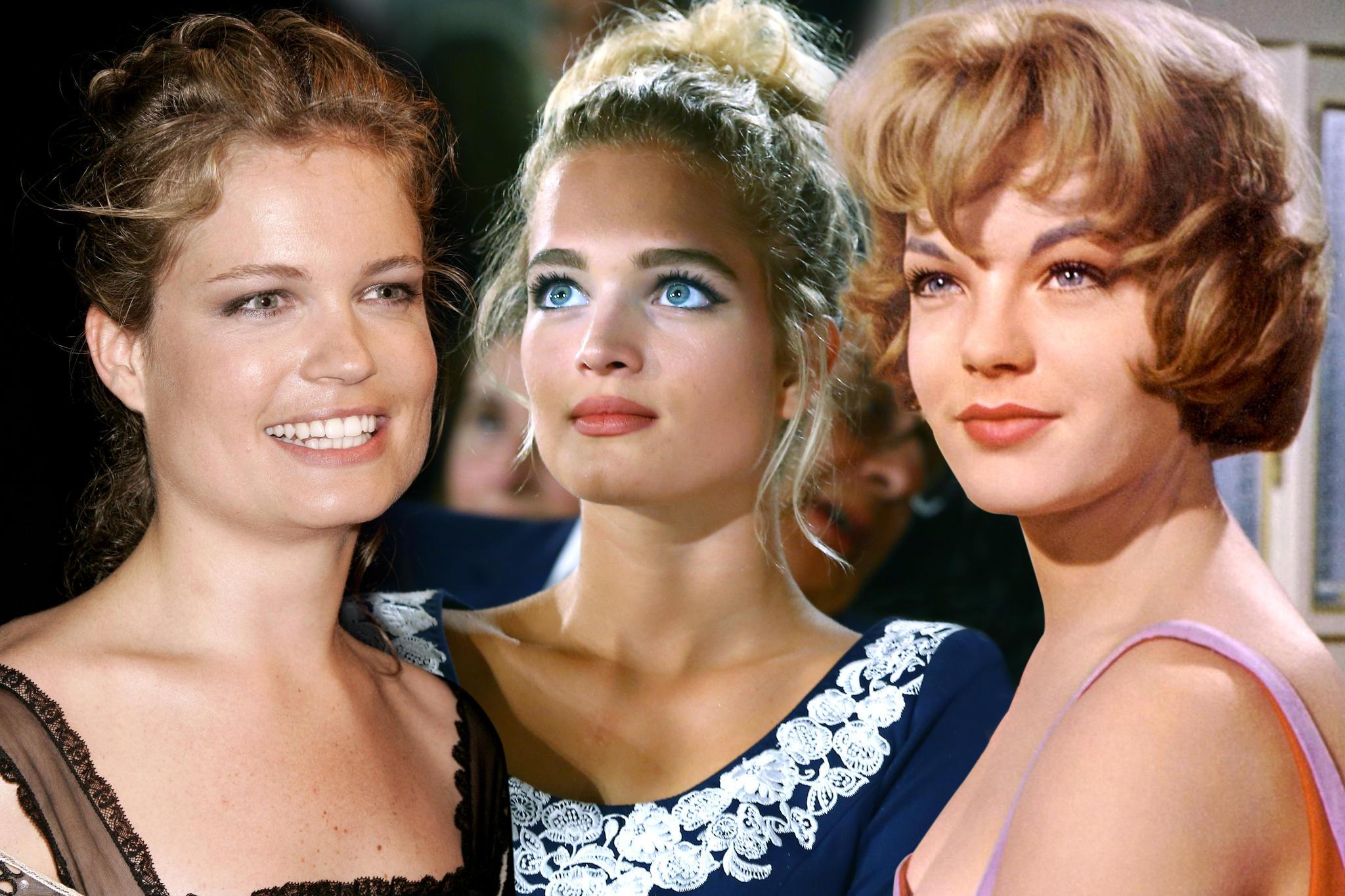 Eine Ähnlichkeit ist nicht zu verleugnen: Sarah Biasini (l.), Chiara Moon Horst (Mitte) und Romy Schneider (r.)