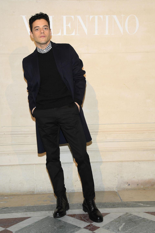 """Bohemian""Rhapsody""-Star Rami Malek schaut in Paris mal bei Valentino vorbei."