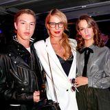 Stolze Mama: Guilia Siegel mit ihren Kids und Nachwuchs-Models Nathan und Mia Wehrmann