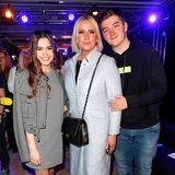 Happy Family: Claudia Effenberg mit ihren KidsLucia und Thommy Strunz