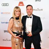 Power-Couple: Anna Loos und Jan Josef Liefers auf dem Red Carpet des Deutschen Filmballs in München.