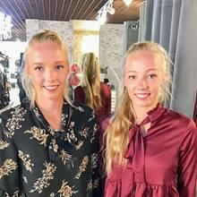 Kandidatin Yana (r.) mit ihrer Shoppingbegleitung Zwillingsschwester Tayisiya Morderger