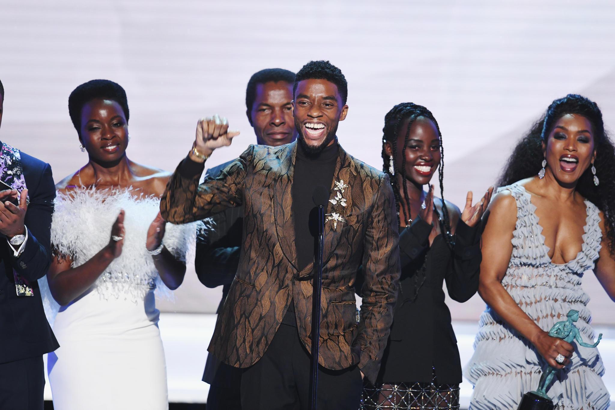 """Der Cast von """"Black Panther"""" freut sich über die Auszeichnung."""