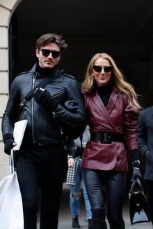Céline Dion vorige Woche bei der Pariser Fashion Week. Mit dabei: ihr guter Freund Pepe Munoz, mit dem die Sängerin viel Spaß hat