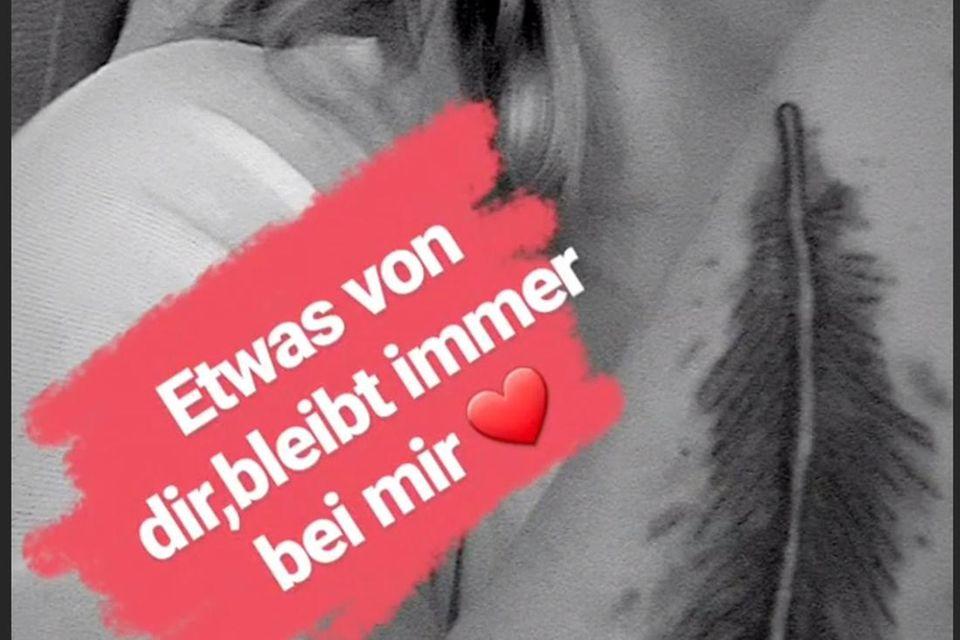 Im Gedenken an ihren Jens ließ sich Danni Büchner tätowieren.