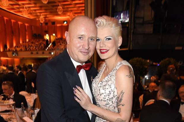 Mike Blümer und Melanie Müller auf dem Leipziger Opernballam 4. November 2017