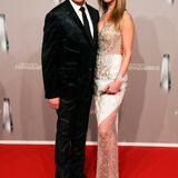 """""""Let's Dance""""-Juror Joachim Llambi präsentiert sich auf dem roten Teppich mit seiner neuen Freundin Rebecca Rosenschon."""