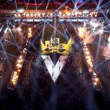 Aus der Vogelperspektive zeigt sich erst, wie Aufwendig Maroon 5'sHalbzeit-Show-Bühne ist.