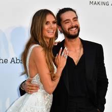 Heidi Klum und Tom Kaulitz bei ihrem ersten offiziellen Auftritt als Paar am 17. Mai 2017 in Cannes