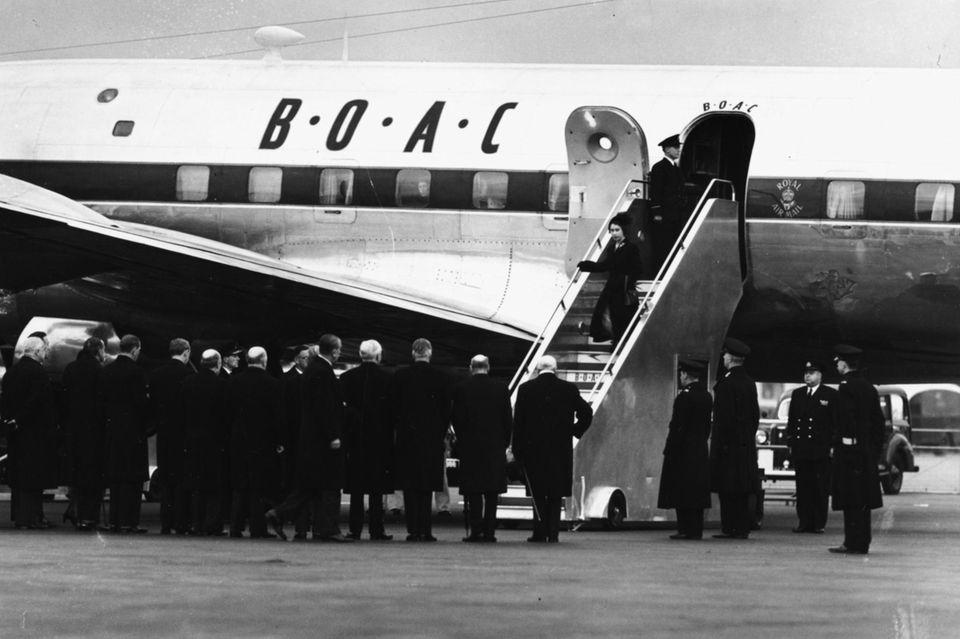 7. Februar 1952: Elizabeth ging als Prinzessin nach Kenia und kehre als Königin nach London zurück