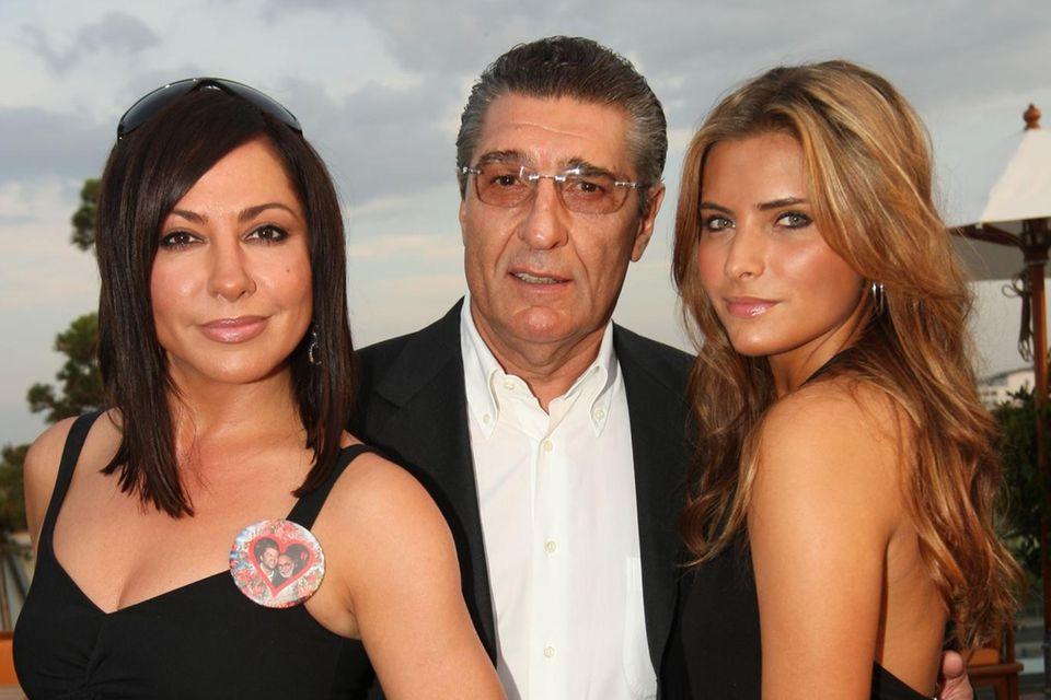 Simone Thomalla mit Tochter Sophia und Rudi Assauer, 2008.