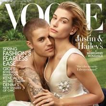 """Justin Bieber und Hailey Baldwin auf dem Cover der US-""""Vogue"""""""