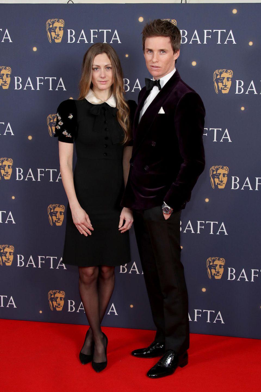 """8. Februar 2019  In London wird die """"Bafta Film Gala"""" gefeiert. Schauspieler Eddie Redmayne kommt in Begleitung seiner Frau Hannah Bagshawe."""