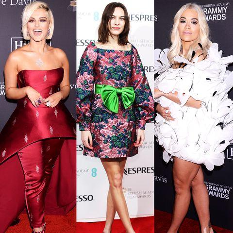 Grammy + BAFTA Awards : Die Red-Carpet-Looks der Nacht davor