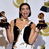 """Die britische Sängerin Dua Lipa (""""New Rules"""") hat die Auszeichnungen als """"beste neue Künstlerin des Jahres"""" und """"beste Dance-Aufnahme"""" einheimsen können."""