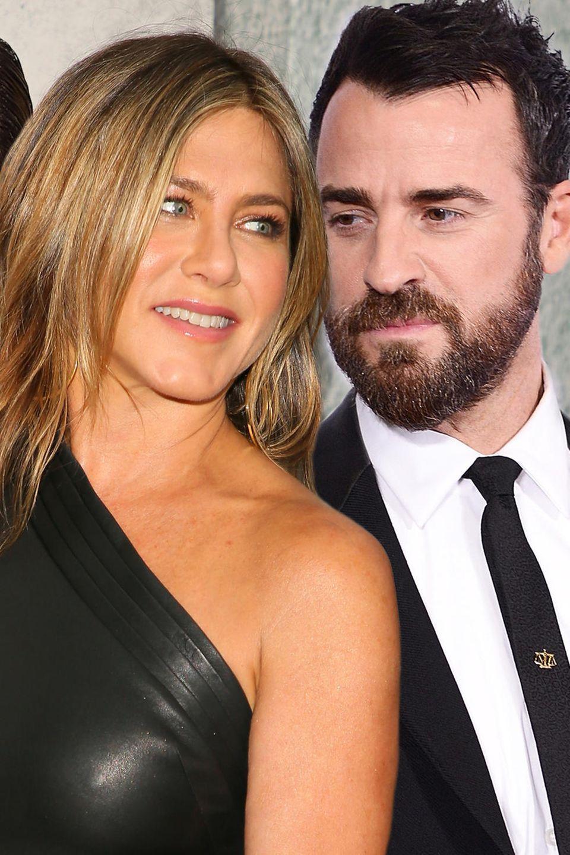 Jennifer Aniston und ihre Ex-Männer Brad Pitt und Justin Theroux.