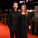 Christian Bale und Sibi Blazic setzen auf Schwarz - das geht ja schließlich immer.